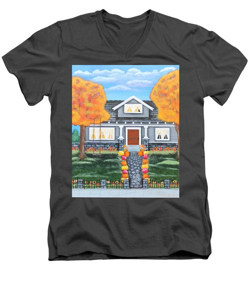 Home Sweet Home - Comes Autumn Men's V-Neck T-Shirt