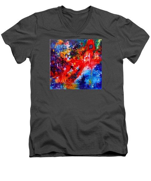 Home Sweet Home. Root Chakra. Series Healing Chakras. Men's V-Neck T-Shirt by Helen Kagan