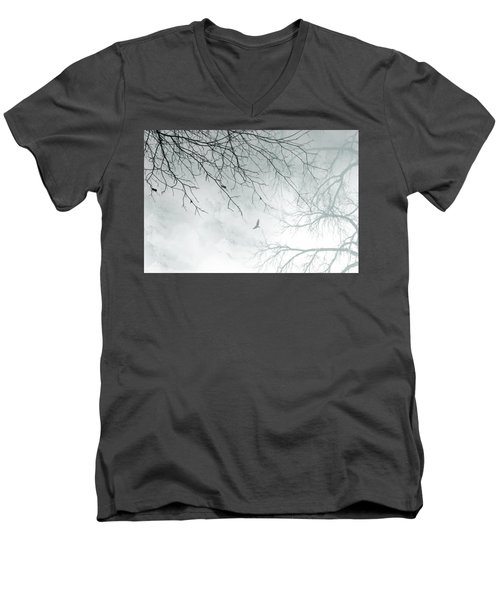 Men's V-Neck T-Shirt featuring the digital art Home by Trilby Cole