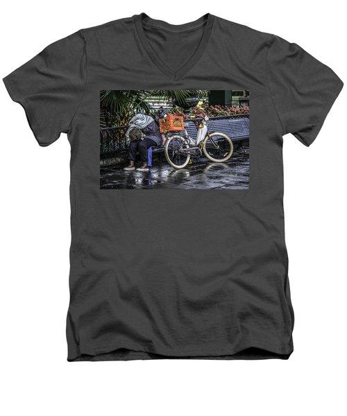 Homeless In New Orleans, Louisiana Men's V-Neck T-Shirt