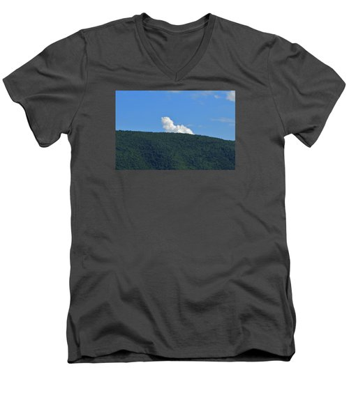 Men's V-Neck T-Shirt featuring the photograph Homer Simson by James McAdams