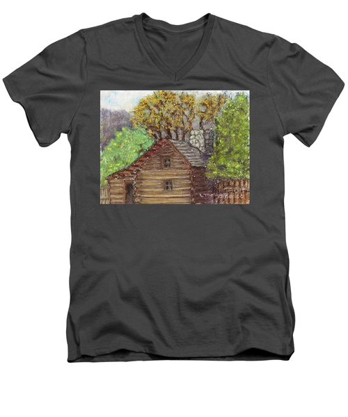 Homestead Men's V-Neck T-Shirt by Laurie Morgan