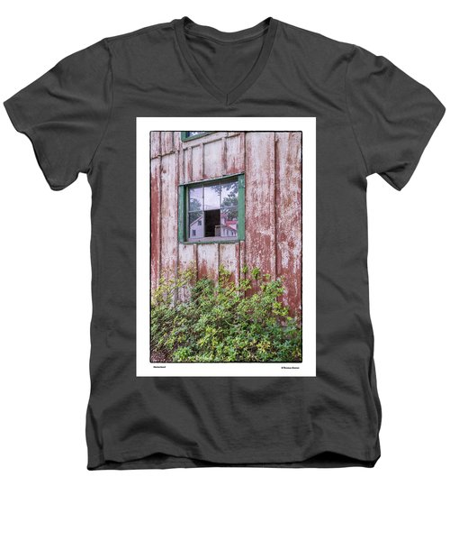 Men's V-Neck T-Shirt featuring the photograph Homestead by R Thomas Berner