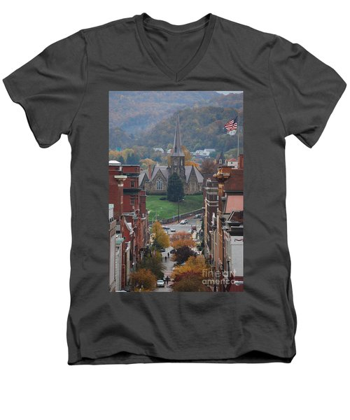 My Hometown Cumberland, Maryland Men's V-Neck T-Shirt by Eric Liller