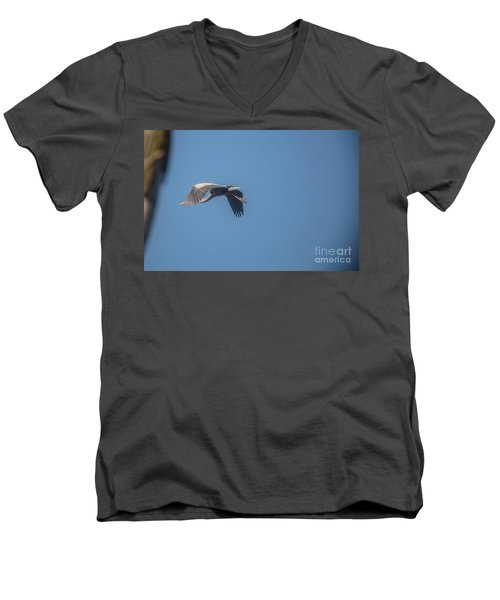 Men's V-Neck T-Shirt featuring the photograph Homing Home by David Bearden
