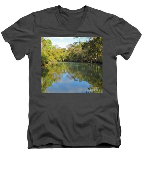 Homosassa River Men's V-Neck T-Shirt