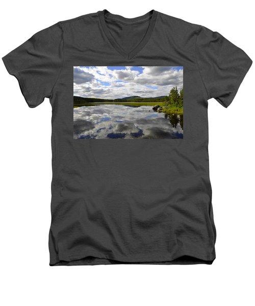 Hon Lake Men's V-Neck T-Shirt by Thomas M Pikolin