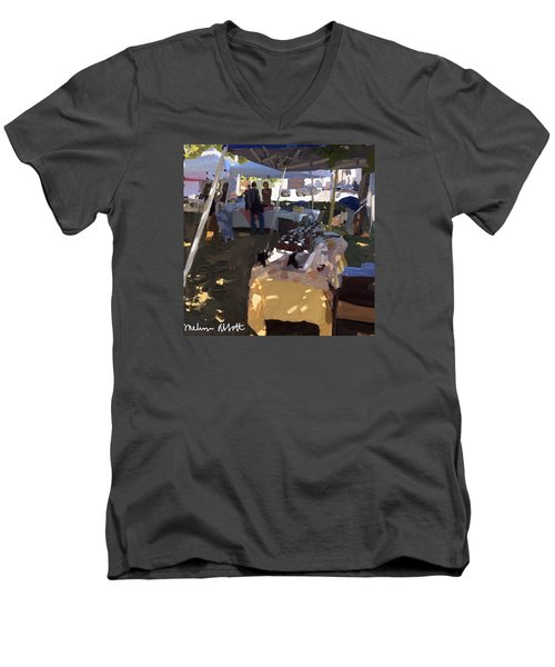Honey Tent At Farmer's Market Men's V-Neck T-Shirt