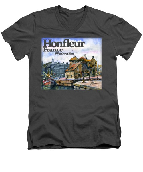 Honfleur France Shirt Men's V-Neck T-Shirt