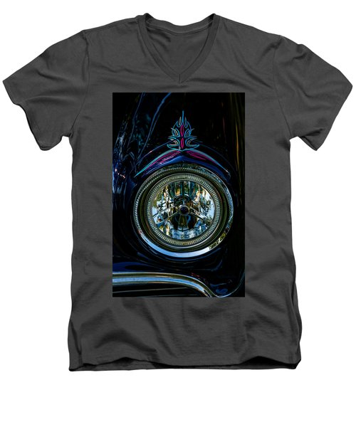 Men's V-Neck T-Shirt featuring the photograph Hood Wink 55 Lincoln by Trey Foerster