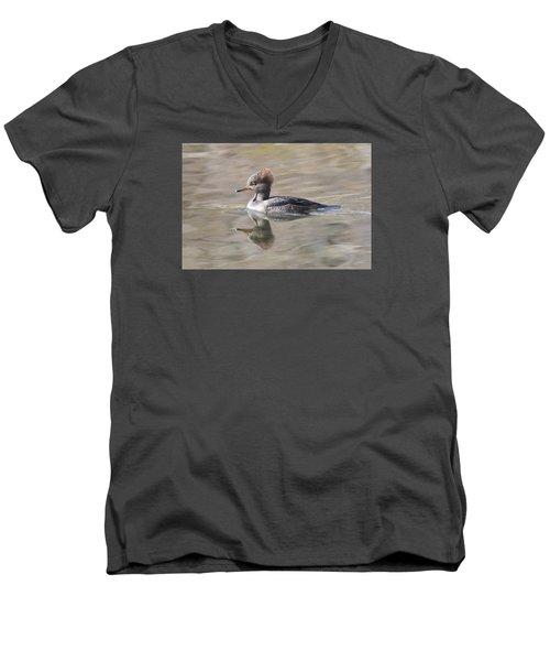 Hooded Merganser Female Men's V-Neck T-Shirt