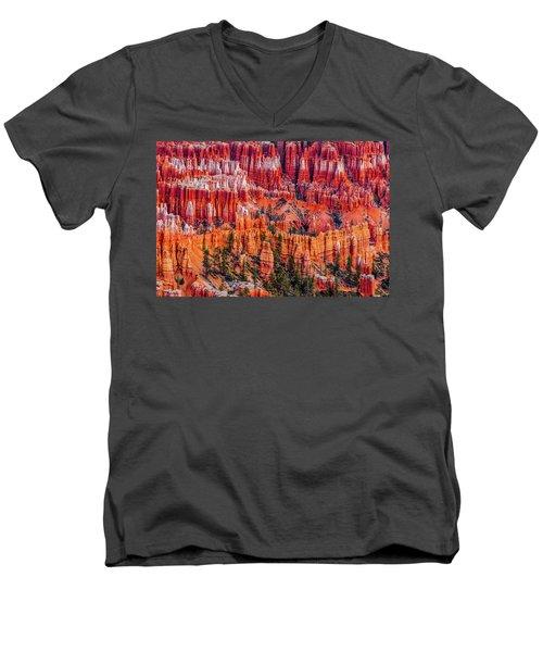 Hoodoo Forest Men's V-Neck T-Shirt by David Cote