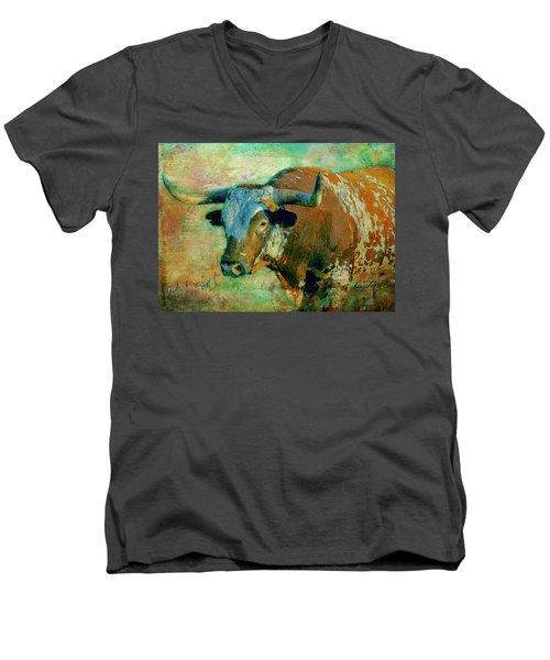 Hook 'em 1 Men's V-Neck T-Shirt