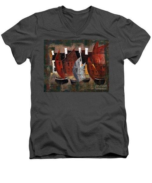 Hookers In The Cladagh Men's V-Neck T-Shirt