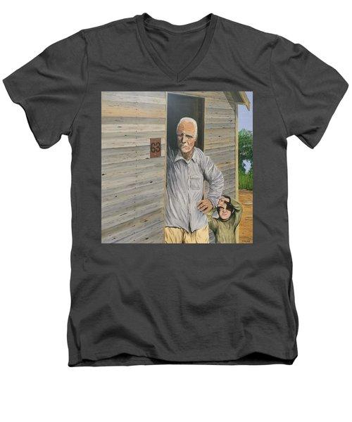 Hooper Ranch #63 Men's V-Neck T-Shirt