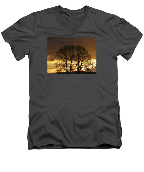 Hope Is On The Horizon Men's V-Neck T-Shirt by Dee Flouton