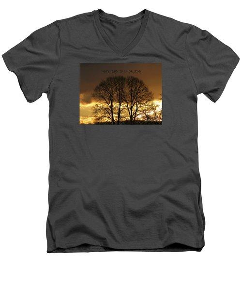Hope Is On The Horizon Men's V-Neck T-Shirt