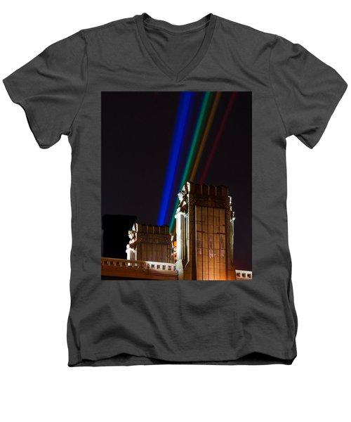 Hope Memorial Bridge, Aha Lights Men's V-Neck T-Shirt