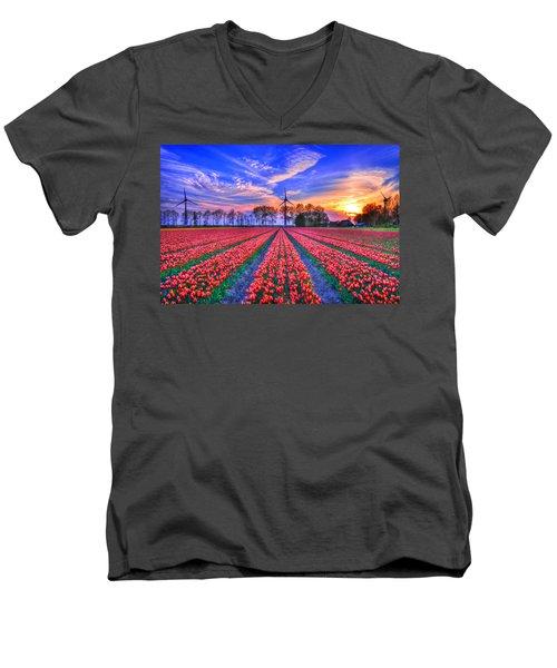 Hope Of Spring Men's V-Neck T-Shirt by Midori Chan