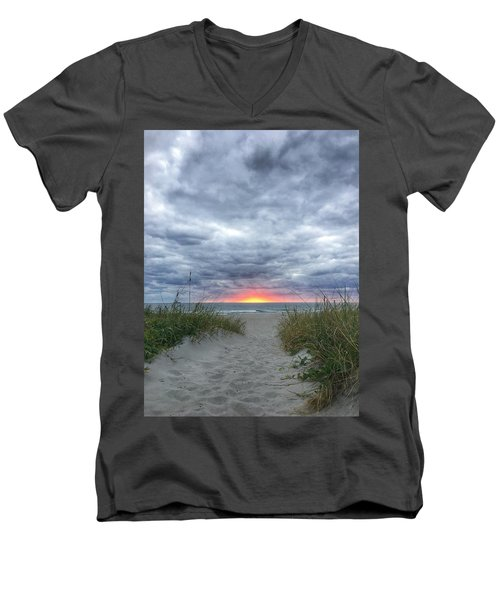 Hope On The Horizon Delray Beach Florida  Men's V-Neck T-Shirt