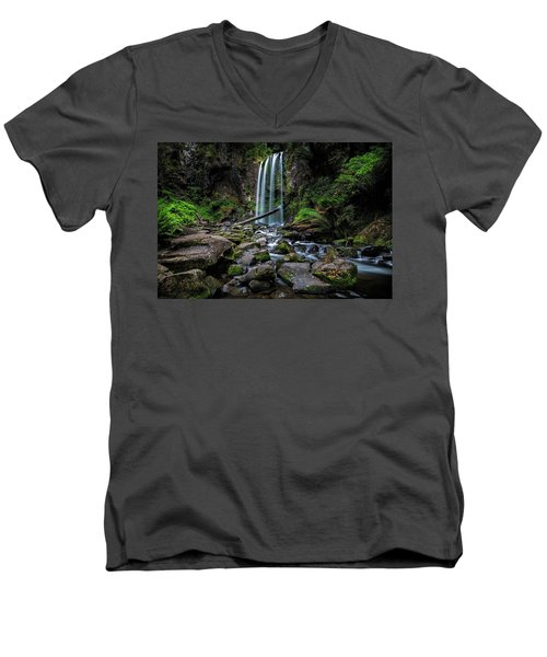Hopetoun Falls Men's V-Neck T-Shirt by Mark Lucey
