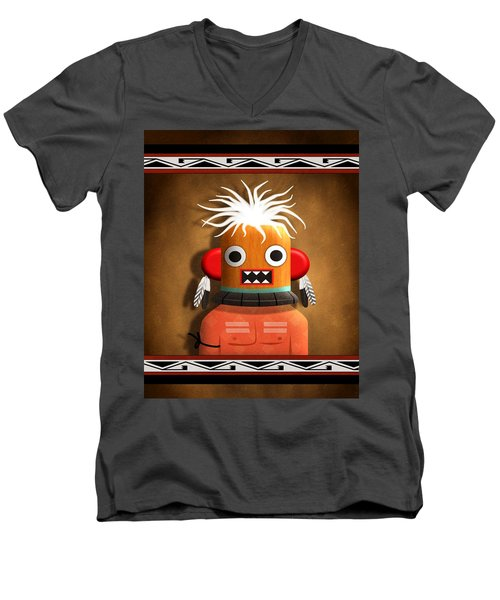 Hopi Indian Kachina Men's V-Neck T-Shirt by John Wills