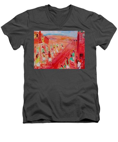 Hopi Indian Ritual Men's V-Neck T-Shirt