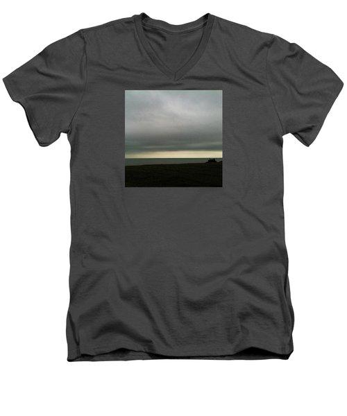 Horizon Light Men's V-Neck T-Shirt by Anne Kotan