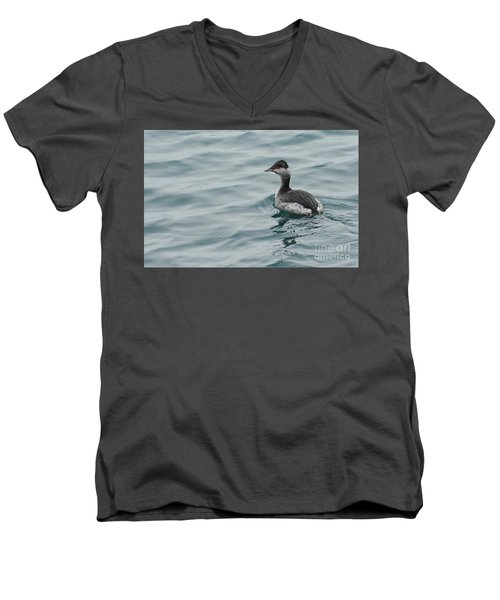 Horned Grebe Men's V-Neck T-Shirt