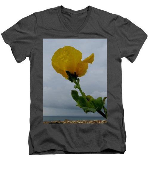 Horned Poppy Men's V-Neck T-Shirt by John Topman