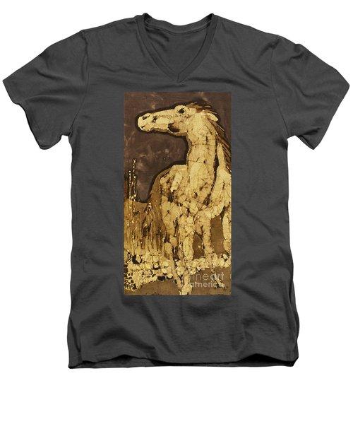 Horse Above Stones Men's V-Neck T-Shirt