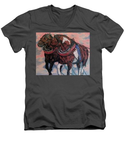 Horse Power Men's V-Neck T-Shirt