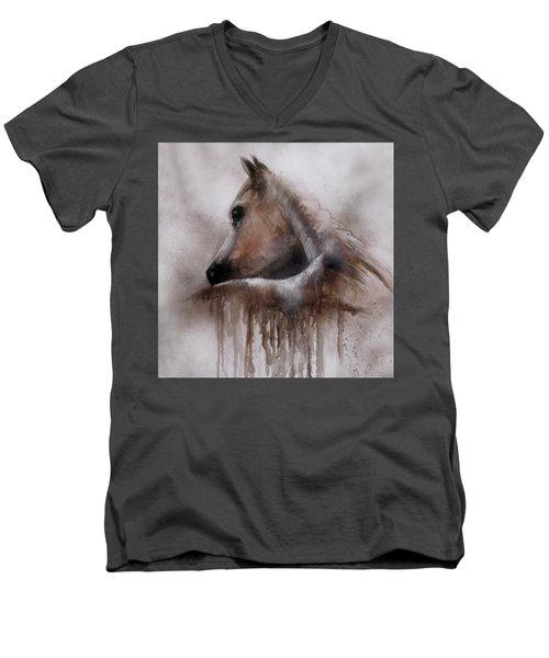 Horse Shy Men's V-Neck T-Shirt
