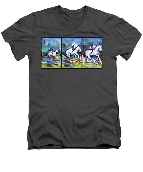 Horse Three II Men's V-Neck T-Shirt
