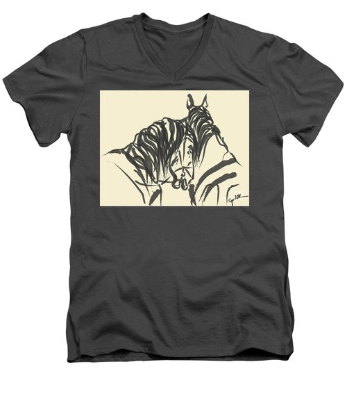 Horse - Together 9 Men's V-Neck T-Shirt
