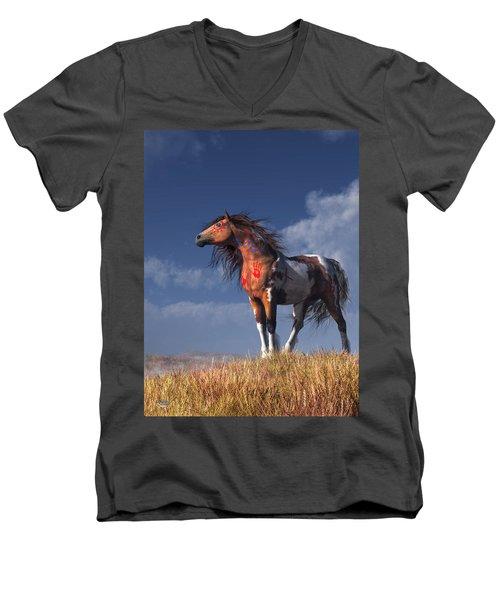 Horse With War Paint Men's V-Neck T-Shirt