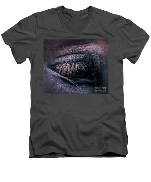 Horses Eye-color Men's V-Neck T-Shirt