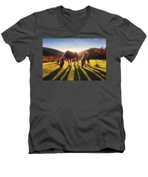 Horses In Austigarmin Men's V-Neck T-Shirt