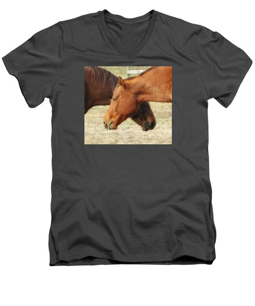 Horses In Sinc Men's V-Neck T-Shirt