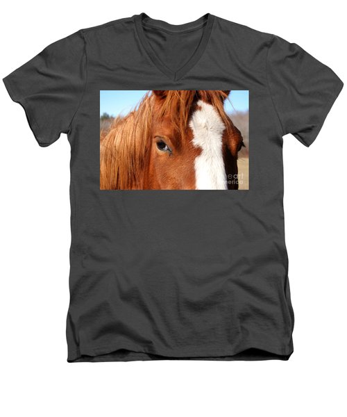 Horse's Mane Men's V-Neck T-Shirt