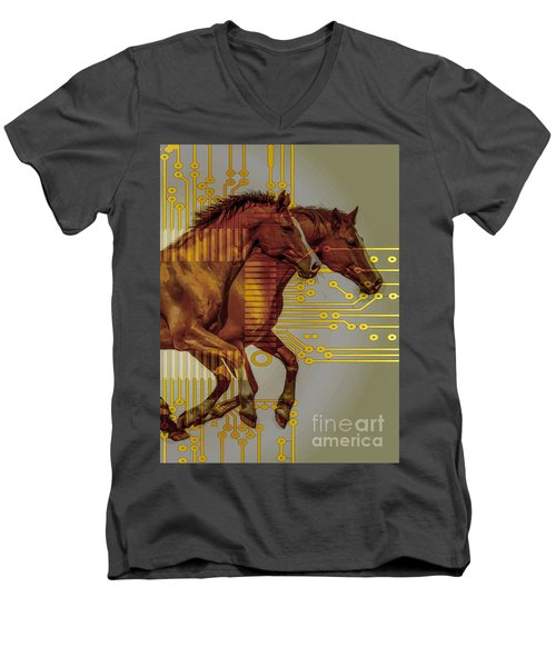 The Sound Of The Horses. Men's V-Neck T-Shirt