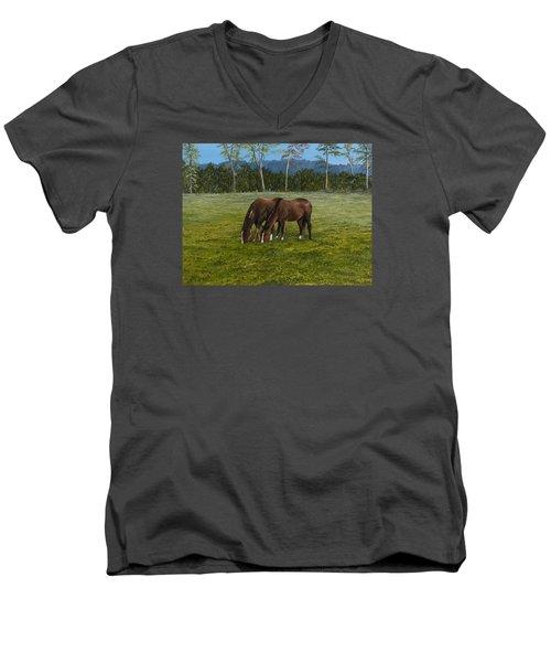 Horses Of Romance Men's V-Neck T-Shirt