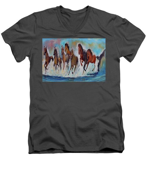 Horses Of Success Men's V-Neck T-Shirt