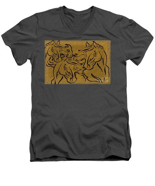 Horses Three Men's V-Neck T-Shirt