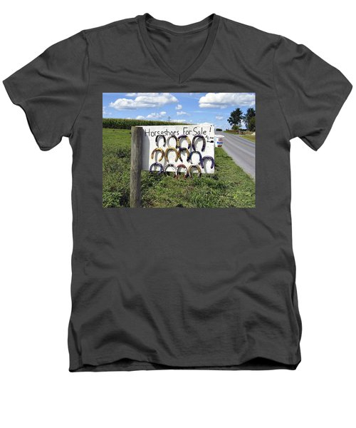 Horseshoes For Sale Men's V-Neck T-Shirt