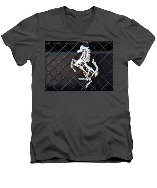 Men's V-Neck T-Shirt featuring the photograph Horsey by John Schneider