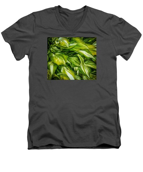 Hosta Chaos Men's V-Neck T-Shirt