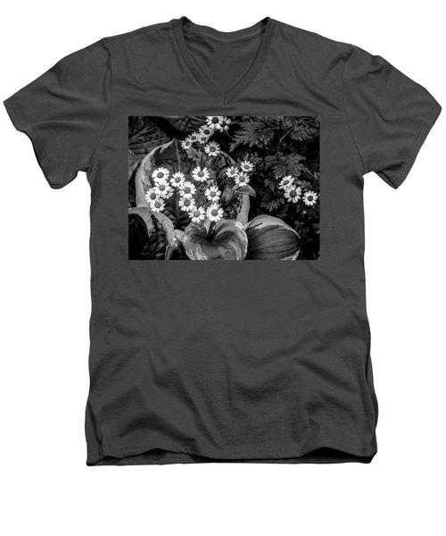 Hosta Daisies Men's V-Neck T-Shirt