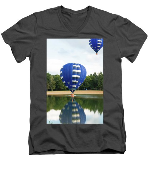 Hot Air Balloon Men's V-Neck T-Shirt by Hans Engbers