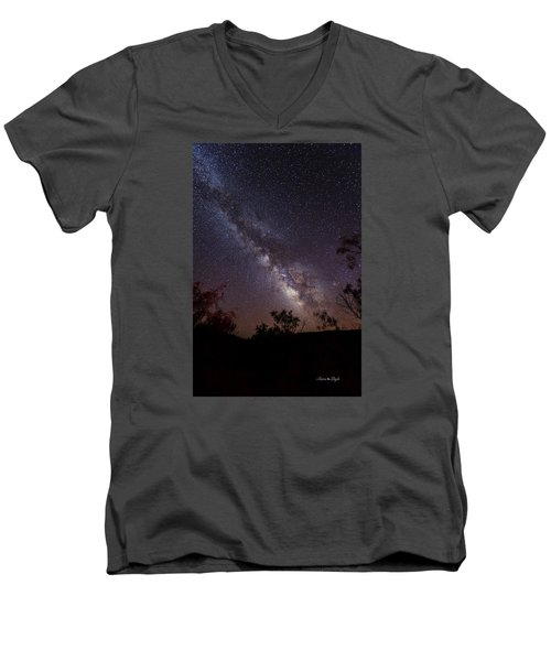 Hot August Night Under The Milky Way Men's V-Neck T-Shirt